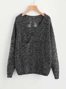 Pull-over filé au dos en tricot