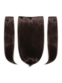 Black Cherry Clip In Straight Hair Extension 3pcs