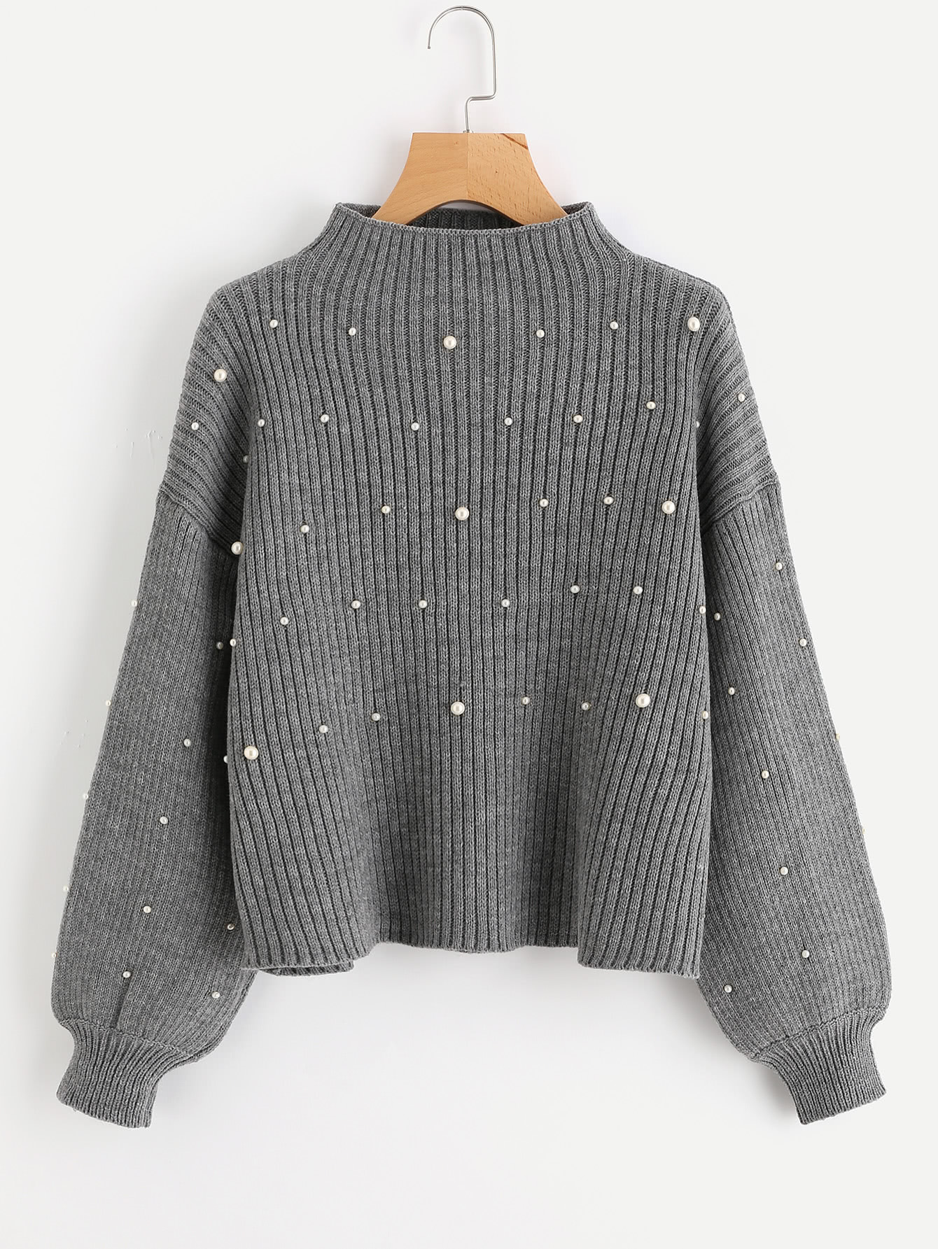 Pearl Beaded Rib Knit Jumper sennheiser ie 80 вставные наушники