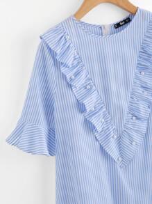 Модное асимметричное платье с бусинами фотографии