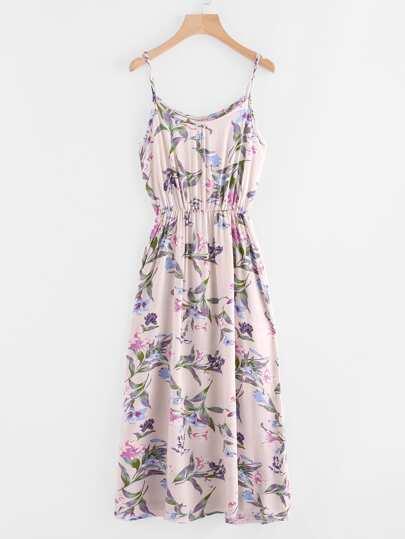 Botanical Print Cami Dress