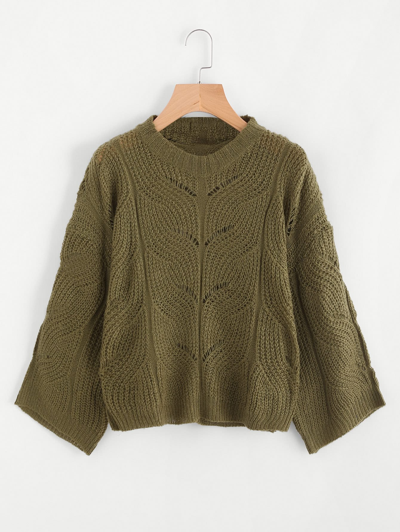 Hollow Out Cable Knit Sweater RKNI170824122