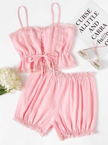 Модная пижама с бантом