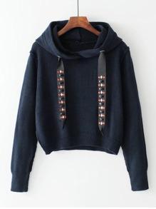Sweater à capuche avec un lacet