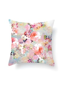 Watercolor Calico Print Pillowcase Cover