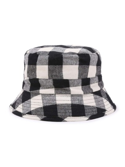 Gingham Print Bucket Hat