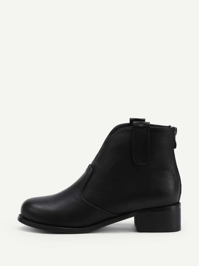 Zipper Back Chelsea Ankle Boots