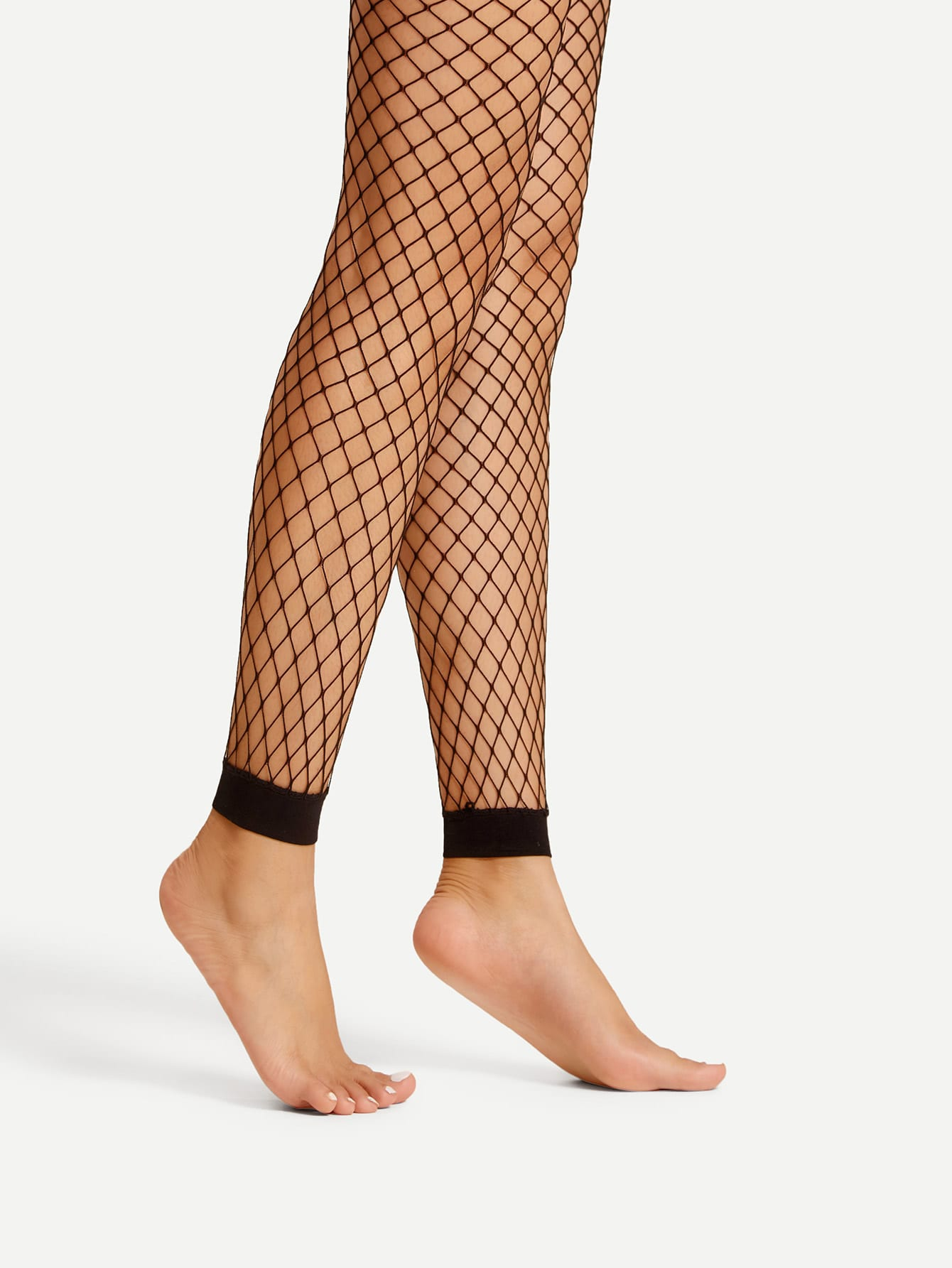 Footless fishnet tights shein sheinside for Fish net leggings