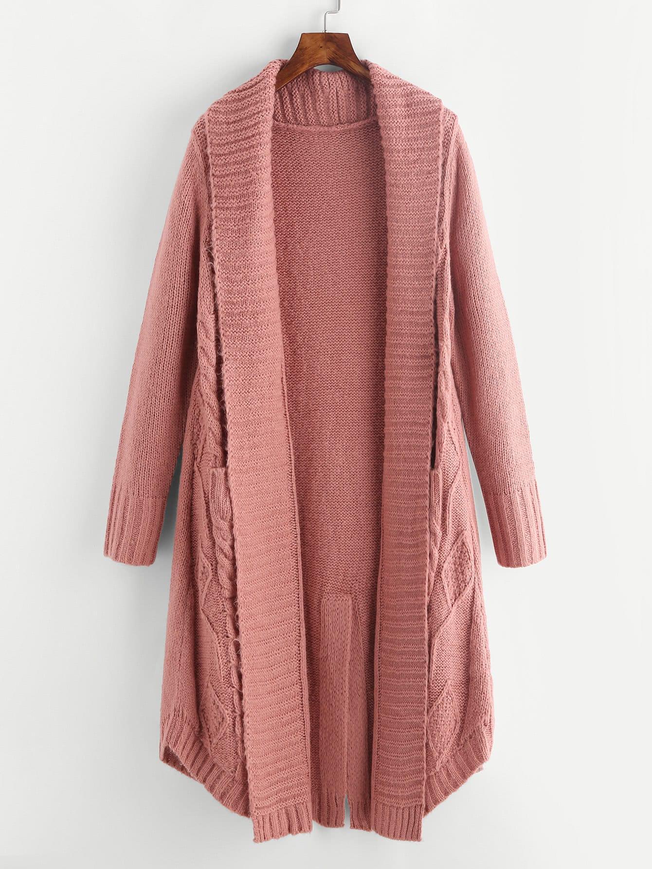Split Back Ribbed Knit Cardigan sweater170823414