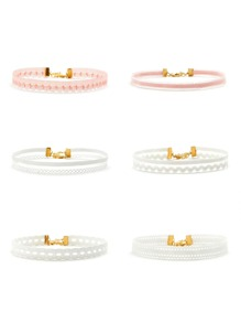 Multi Shaped Design Charm Choker Set 6pcs