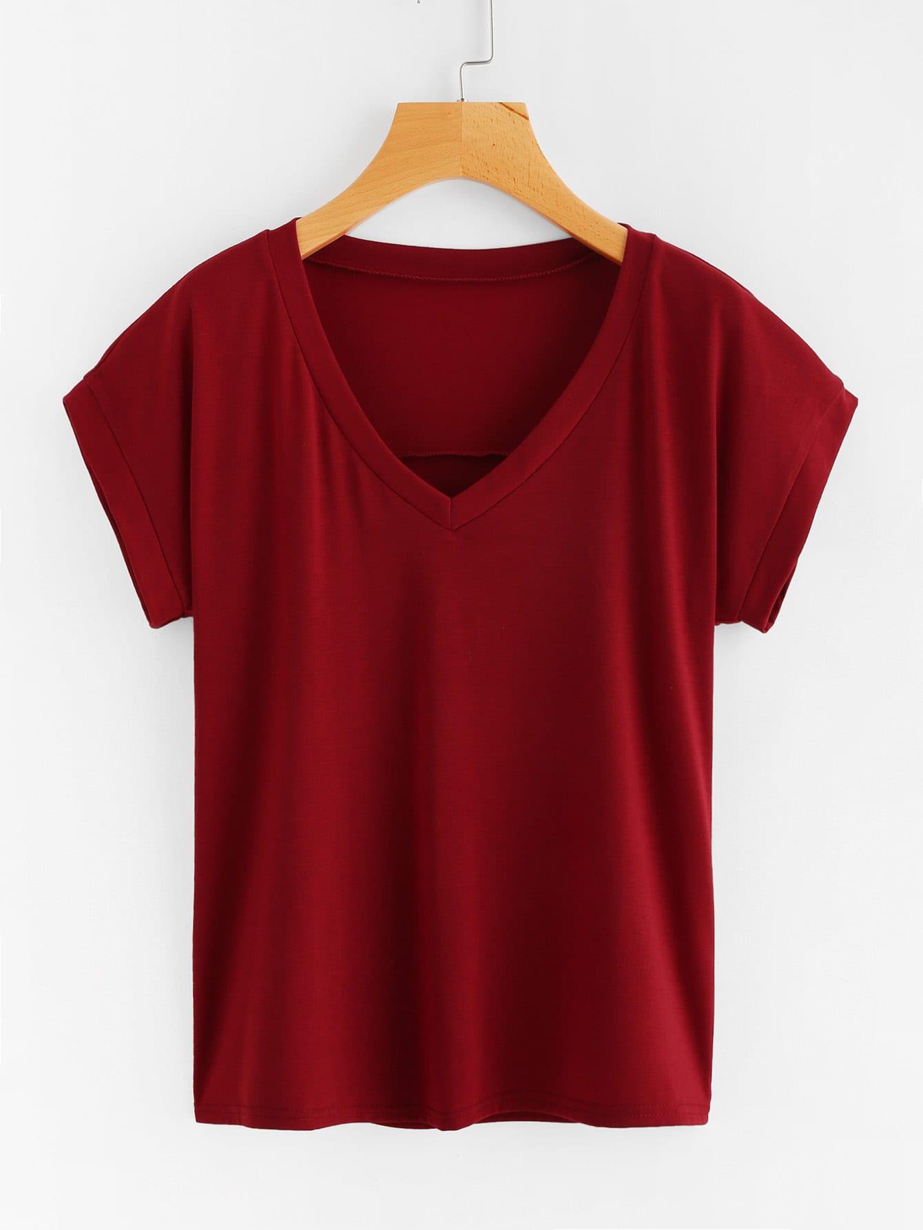 V Neckline T-shirt