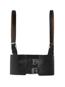 Double Buckle Waist Belt With Adjustable Straps