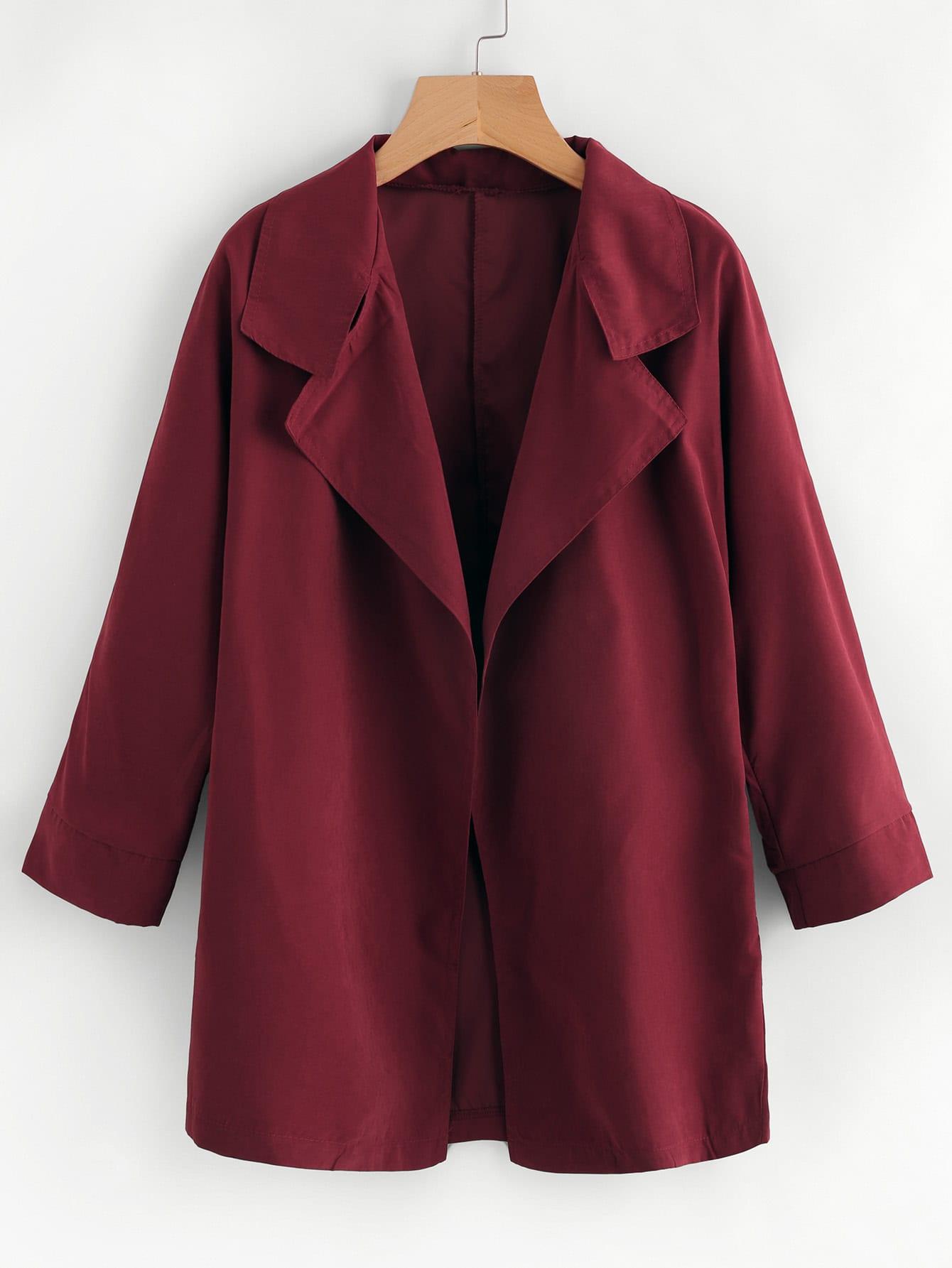 Open Front Casual Coat