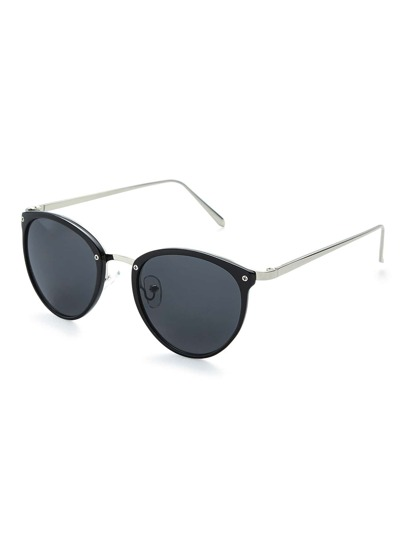 Schmale Frame Oval Lens Sunglasses