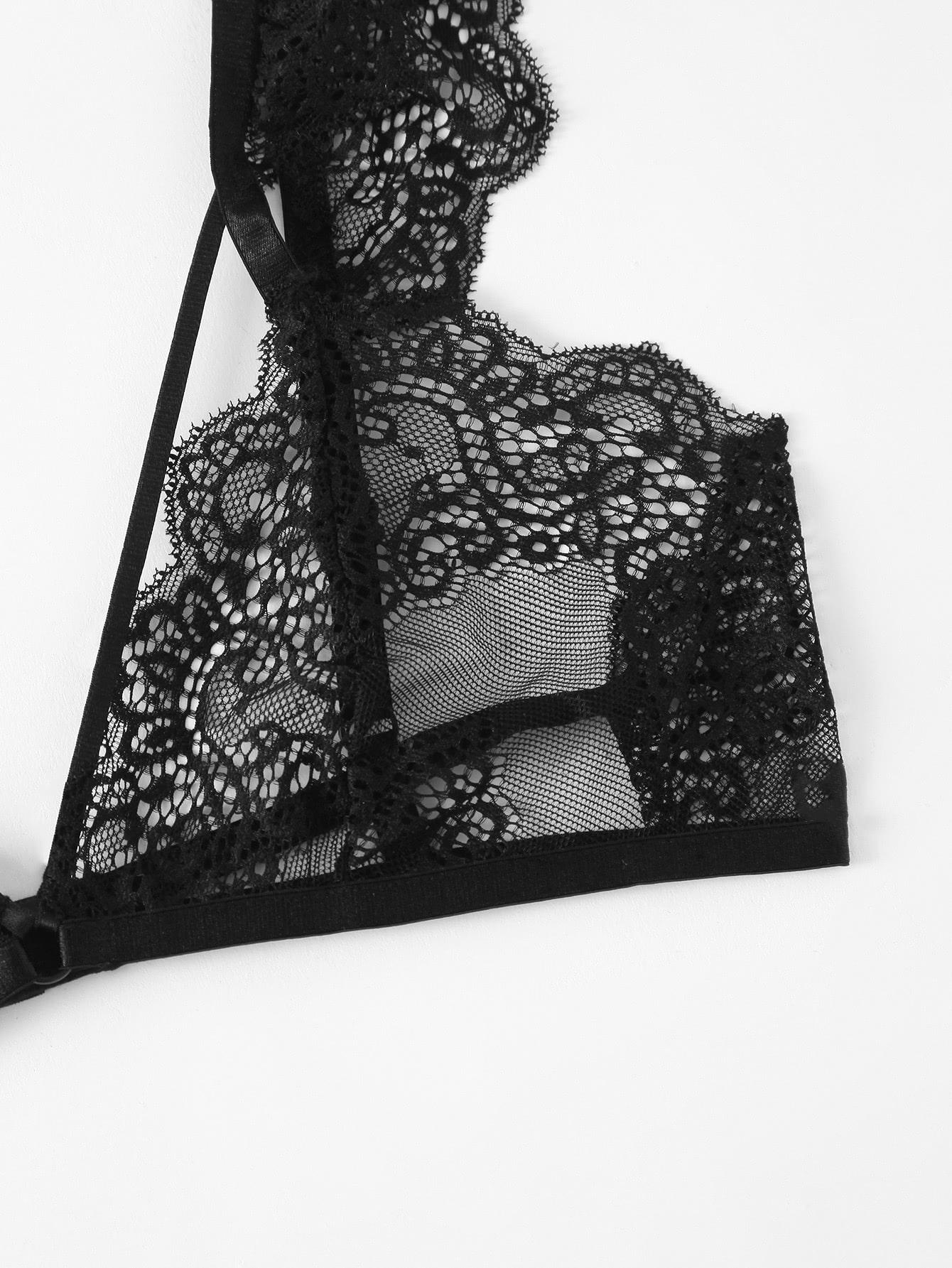 Adjustable Strap Lace Bralette