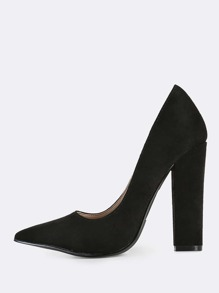 Point Toe Heels BLACK