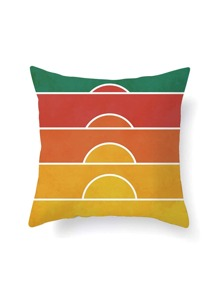 Color Block Pillowcase Cover