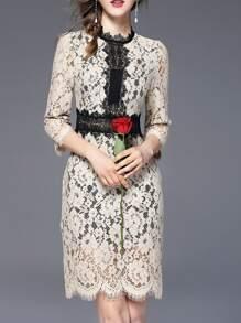 Color Block Lace Dress
