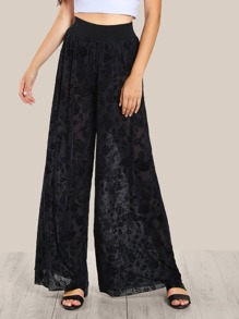 Knicker Insert Floral Lace Palazzo Pants