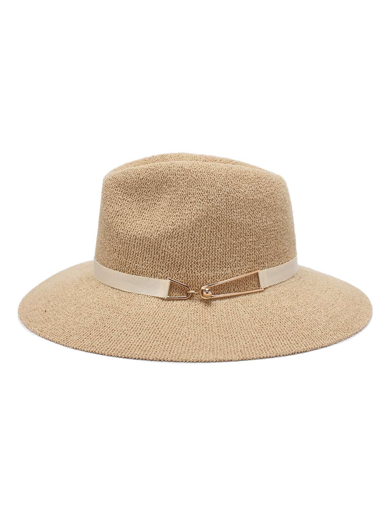 chapeau avec d tail m tal french romwe. Black Bedroom Furniture Sets. Home Design Ideas