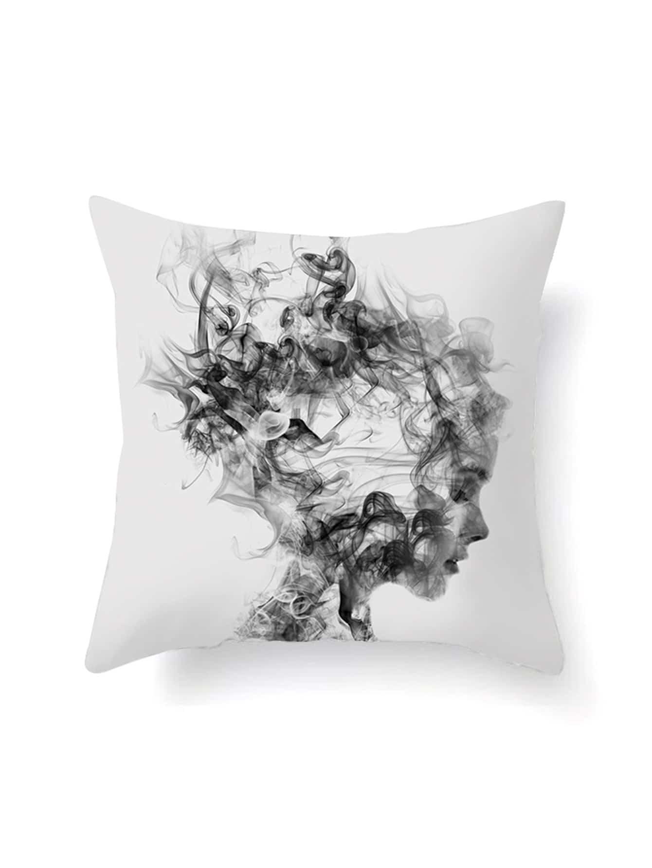 Abstract Girl Print Pillowcase Cover