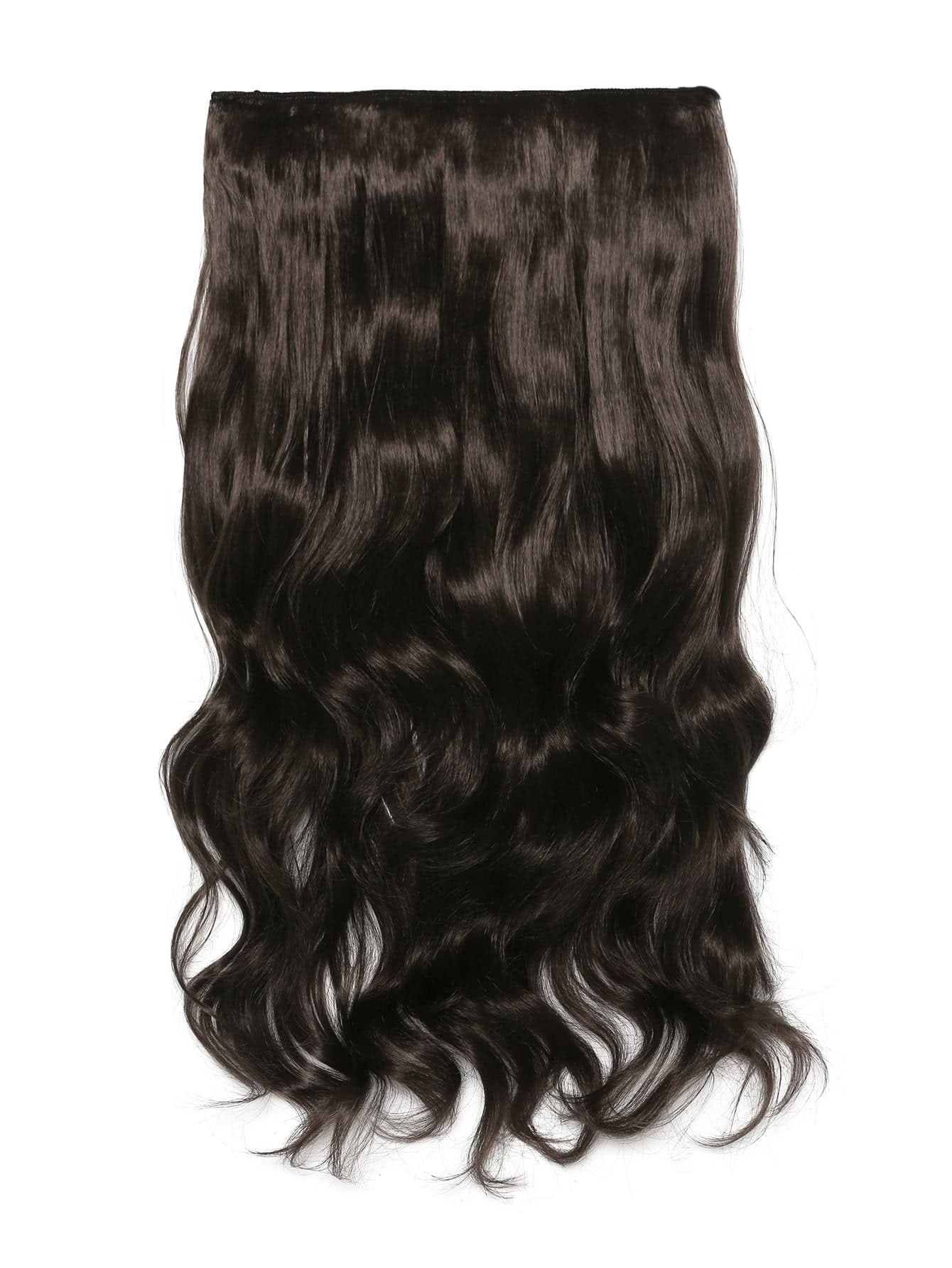 Choc Brown Clip In Soft Wave Hair Extension