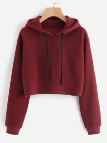 Hooded Drawstring Cashmere Sweatshirt