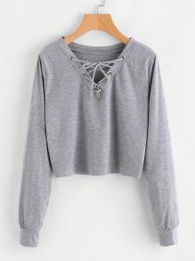 Sweatshirt mit Öse und Schnüren