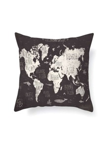 Map Print Pillowcase Cover