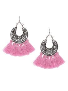 Tassel Drop Statement Earrings