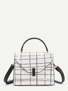 Plaid Design PU Grap Bag