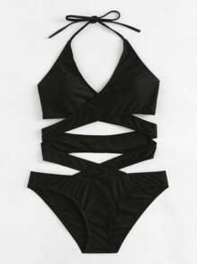 Criss Cross Wrap Swimsuit
