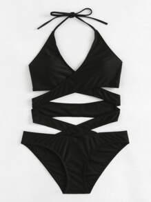 كريسس الصليب التفاف ملابس السباحة