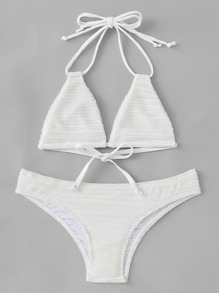 Self Tie Triangle Bikini Set
