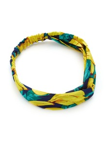 Banana Print Twist Headband