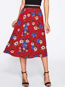 Botanical Print Skirt