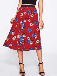 Botanical Print Skirt