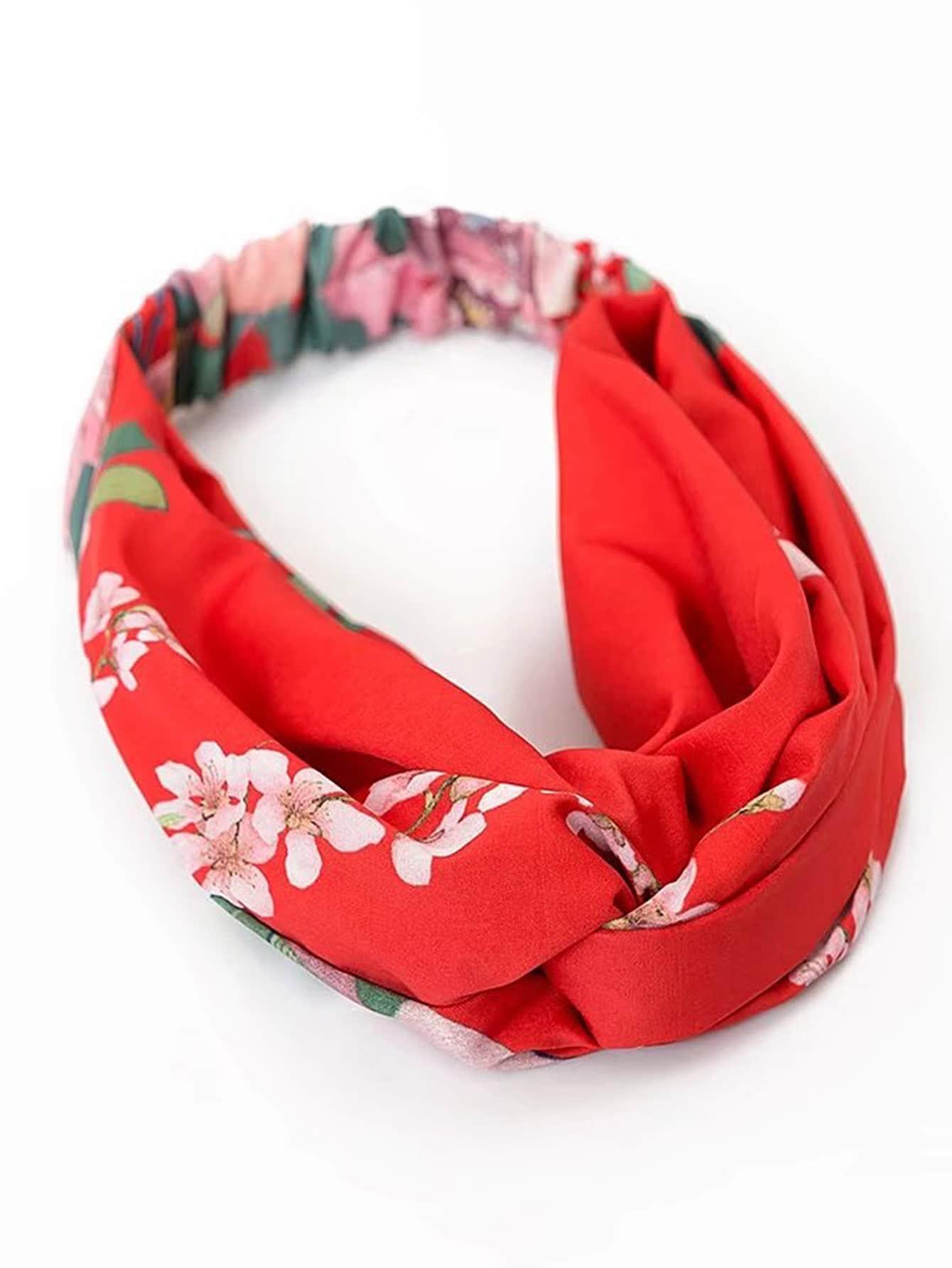 Floral Print Turban Headband leaf print turban headband