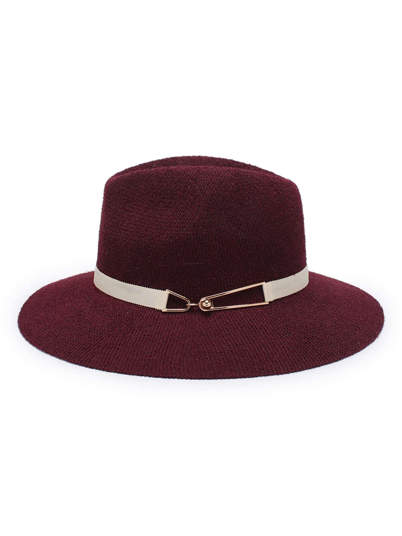Contrast  Band Straw Fedora Hat straw fedora hat