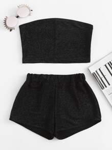 Top a fascia con pantaloncini