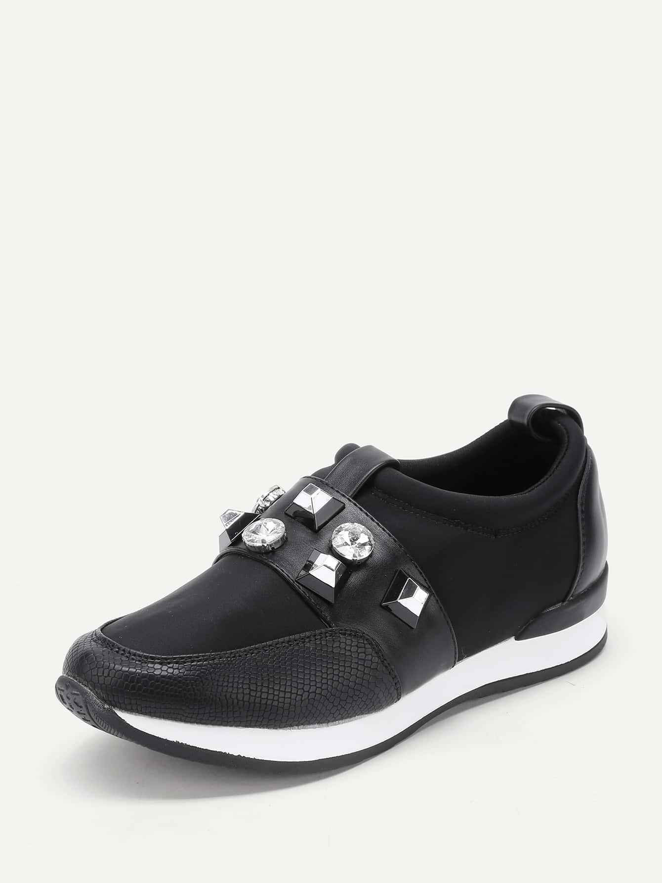 Studded Detail Low Top Trainers