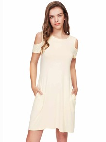 Open Shoulder Tee Dress