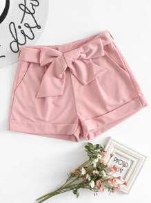 Pantaloni con laccetti in vita