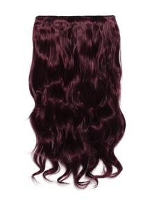Burgundy Clip In Soft Wave Hair Extension