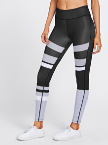 Active Contrast Paneled Leggings