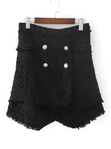 Shorts de cintura alta con doble fila de botones