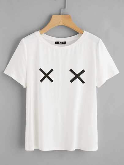 Cross Print T-shirt