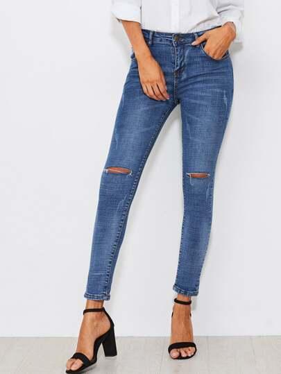 Buy Knee Rips Skinny Jeans pants170829030
