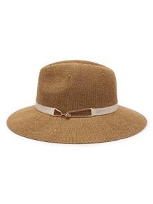 Sombrero fedora de paja