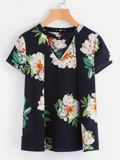 Choker Neck Pleated Top